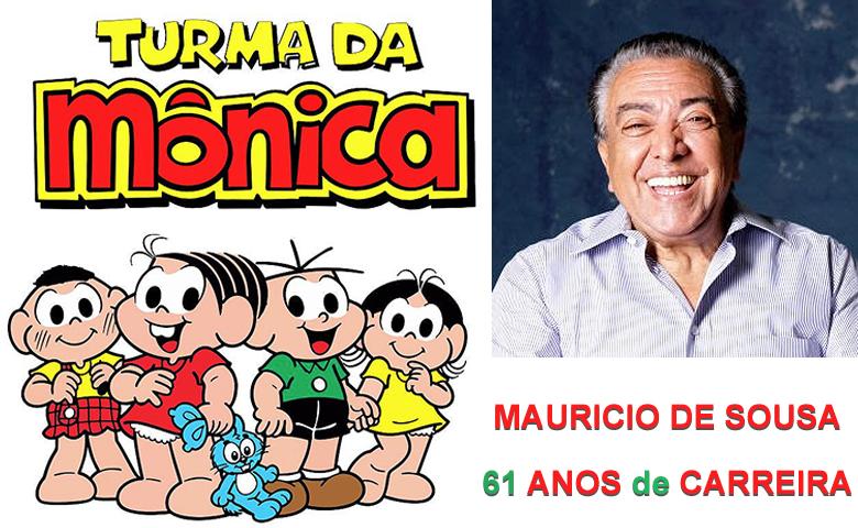 Mauricio de Sousa completa 85 anos.